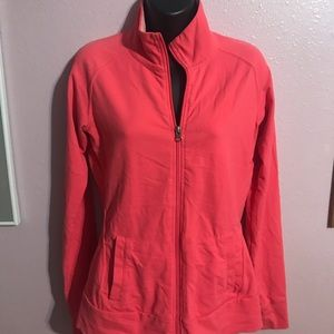 Coral color athletic jacket